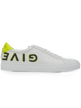 White and yellow leather Urban Street sneakers