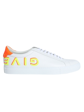Fluorescent orange and yellow Urban Street sneakers