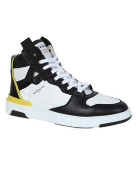 Black and white high-top Wing Sneaker
