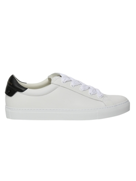 Two-tone leather sneakers White/Black