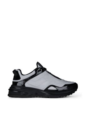 GIV 1 Mesh and Leather Light Runner Black and Silver