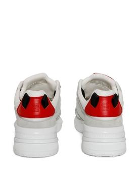 GIV 1 Light Runner Sneaker White Grey and Red
