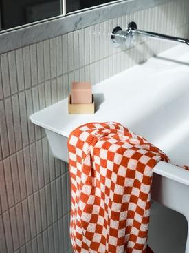 Josephine Hand Towel, Paloma Sun & Ecru