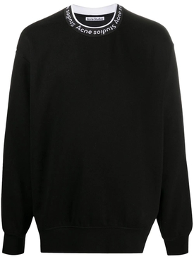 Logo collar sweatshirt BLACK