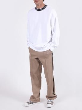 Logo collar sweatshirt WHITE