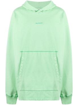 Organic cotton hooded sweatshirt MINT GREEN