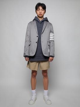 Organic cotton hooded sweatshirt SLATE GREY