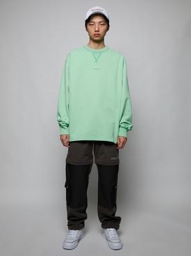 Organic Cotton crewneck sweatshirt MINT GREEN