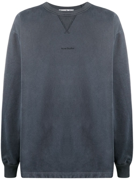 Organic Cotton crewneck sweatshirt SLATE GREY