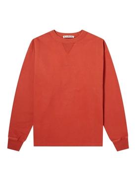 Organic Cotton crewneck sweatshirt COPPER