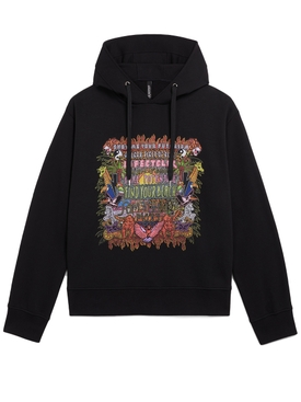 Black Multicolored Futurism Hoodie
