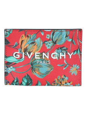 Givenchy - Red Tropical Flower Print Card Case - Men