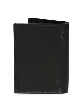 Illusion Stitch Bi-fold Card Holder Black