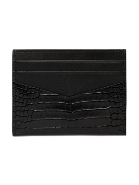 Croc Embossed house moniker cardholder black