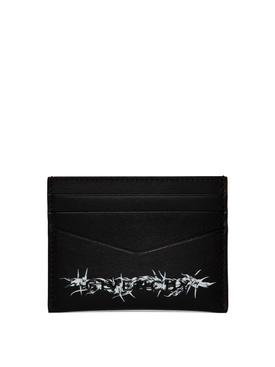 BARBED WIRE CREDIT CARD HOLDER BLACK