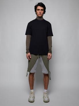 Classic High Neck T-Shirt, BLACK