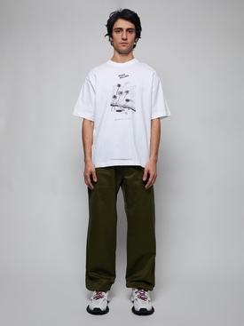 Beni Bischof Print T-Shirt, OPTIC WHITE