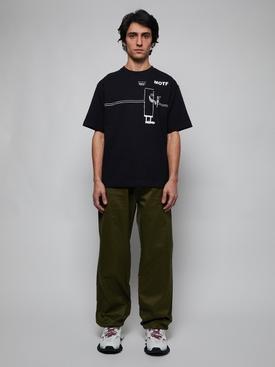 Beni Bischof Print T-Shirt, BLACK
