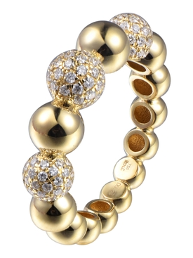 LARGE DIAMOND BOULES ETERNITY RING
