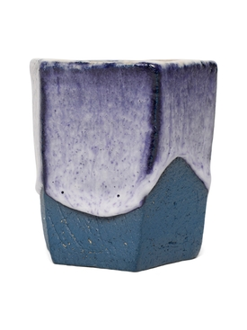 Raw Ground Clay Glass Blue