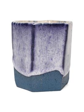 Raw Ground Clay Glass Blue