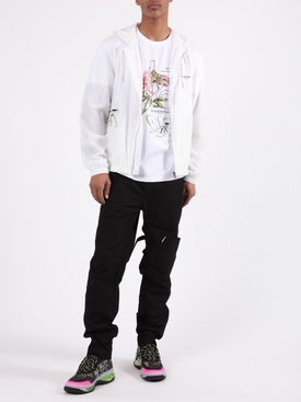 White Floral Windbreaker Jacket