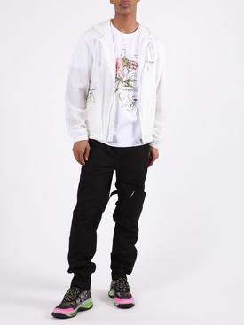 White Floral Windbreaker Jacket