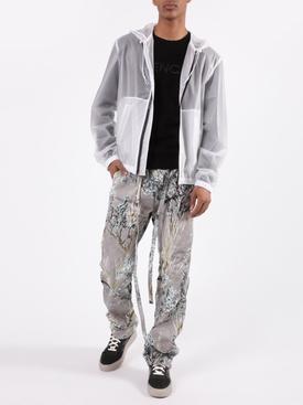 White hooded windbreaker jacket