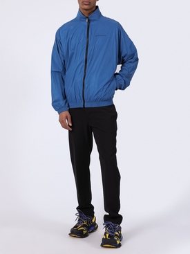 Blue logo windbreaker jacket