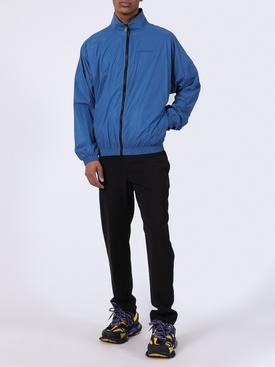Blue logo windbreaker jacket
