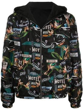 Reversible Motel Print Hooded Jacket