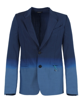 Gradient blue Jacquard blazer