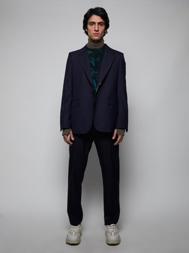 Slim Fit Wool Jacket DARK NAVY