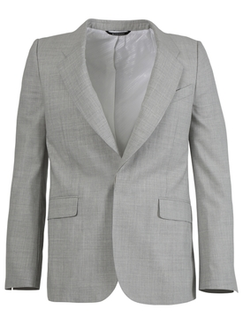 Slim Fit Wool Jacket LIGHT GREY MÉLANGE