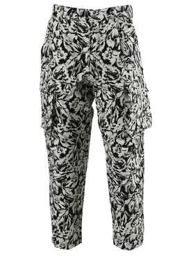 Givenchy - Black And Ivory Floral Cargo Pants - Men