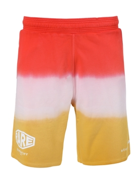 Dip-dye shorts DARK ORANGE