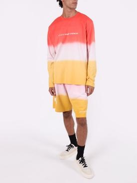 Dip-dye shorts DARK ORANGE