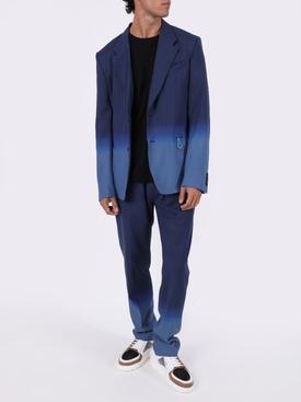 Blue gradient formal jogger pants