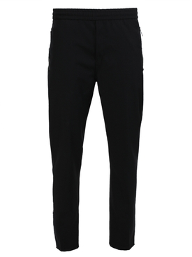 Black wool sweatpants