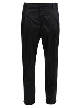 Tonal Logo Print Trousers BLACK