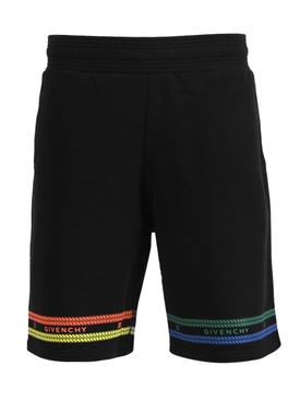 Multicolored Chain Print Shorts