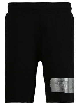 Latex band shorts BLACK