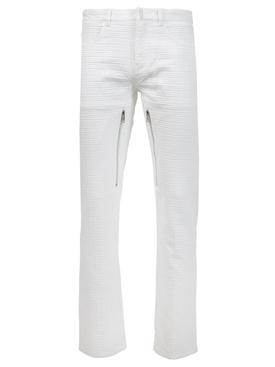 Big 4G Denim Regular Fit Jacquard Pants White