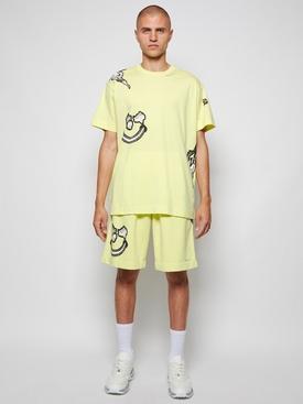 Bat LOL Print Shorts Acid Yellow