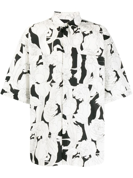 Givenchy - Black And White Floral Bowling Shirt - Men