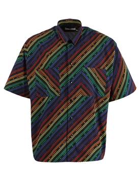 Multicolored short sleeve shirt