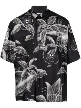 Black and grey silk shirt