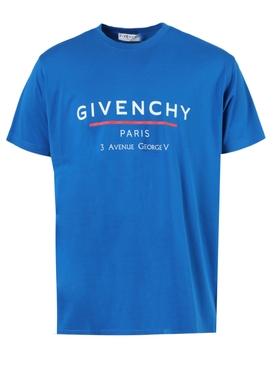 Ocean blue oversized sporty logo t-shirt