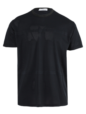 Over-sized Tonal Logo T-Shirt BLACK