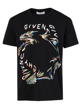 Glitch Logo t-shirt BLACK